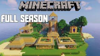 *FULL SEASON* - Minecraft Survival Island 1.16 Timelapse