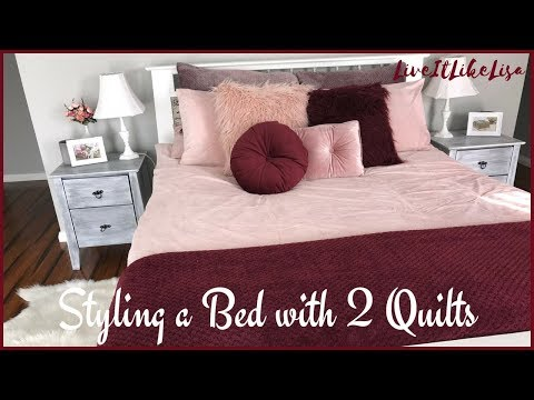 HOW TO:  Styling a Bed with Two Duvets/Quilts