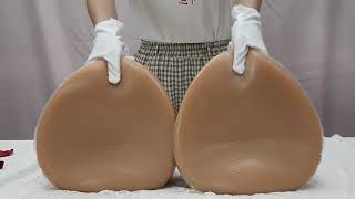 Super Huge Cup 12000g Silicone Breast Forms for Crossdresser Prosthesis Mastectomy Suntan Color