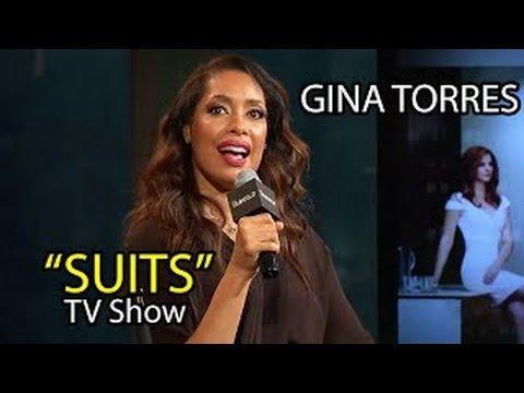 Gina Torres on SUITS Season 5 TV Show w/ Gabriel Macht & Meghan Markle | Interview Feb 16t