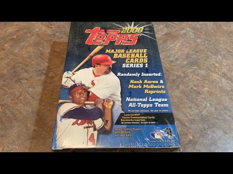 2000 TOPPS HOBBY BOX OPENING!  (Throwback Thursday)