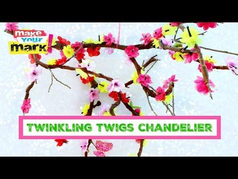 Solar Twinkling Twigs Chandelier