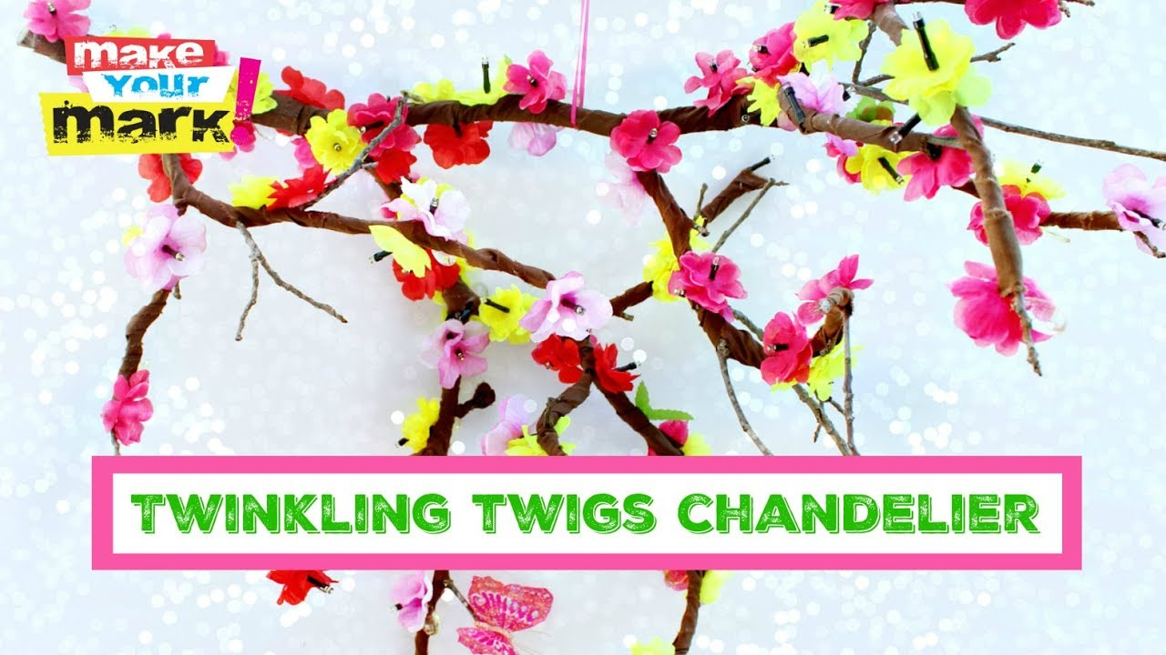 Solar twinkling twigs chandelier youtube solar twinkling twigs chandelier mozeypictures Images
