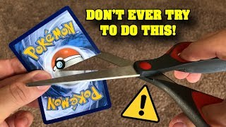 *DON'T EVER TRY THIS* CRAZY POKEMON CARD SAVE IT OR RIP IT CHALLENGE.. GONE WRONG!