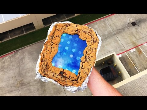 Can Chocolate Chip Cookie Case Save iPad Air from 100 FT Drop Test? - GizmoSlip