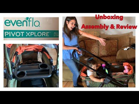 Evenflo Pivot Xplore Stroller Wagon Unboxing / Assembly / Review