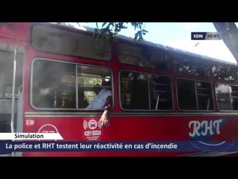 La police et RHT testent leur réactivité en cas d'incendie dans un bus