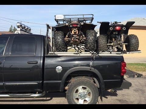 2 Atvs 1 Truck Diamondback Truck Covers Youtube