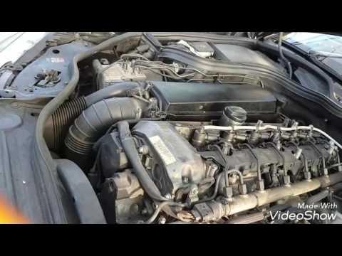 Mercedes-Benz w211 e320 motor 648.961 kw 150 Замена масла Castrol 5w30 и фильтры.
