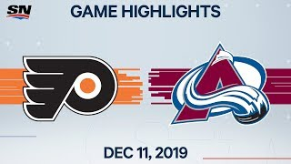 NHL Highlights | Flyers vs. Avalanche - Dec. 11, 2019