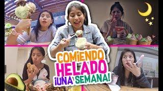 Una SEMANA entera COMIENDO sólo HELADO 🍨 Ice Cream Challenge 🍨- Vloggeras Fantásticas