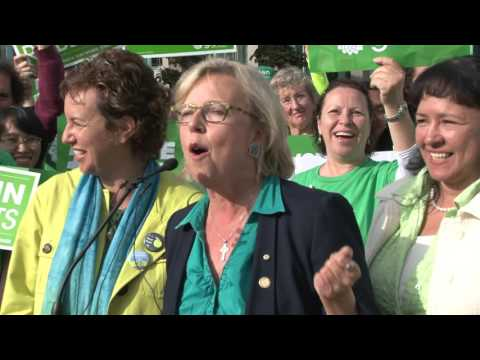 Greens Rally One Day Before National Vote