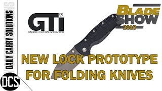 BLADE SHOW 2018  - NEW LOCK PROTOTYPE DESIGNED BY JUSTIN GINGRICH/GTI
