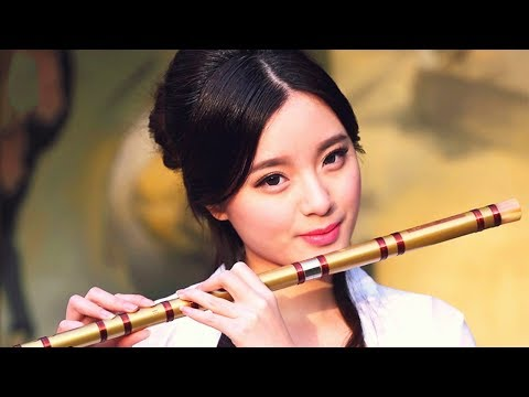 Romantic Relaxing Bamboo Flute Music. Japanese Traditional Music Story Background for Love Massage