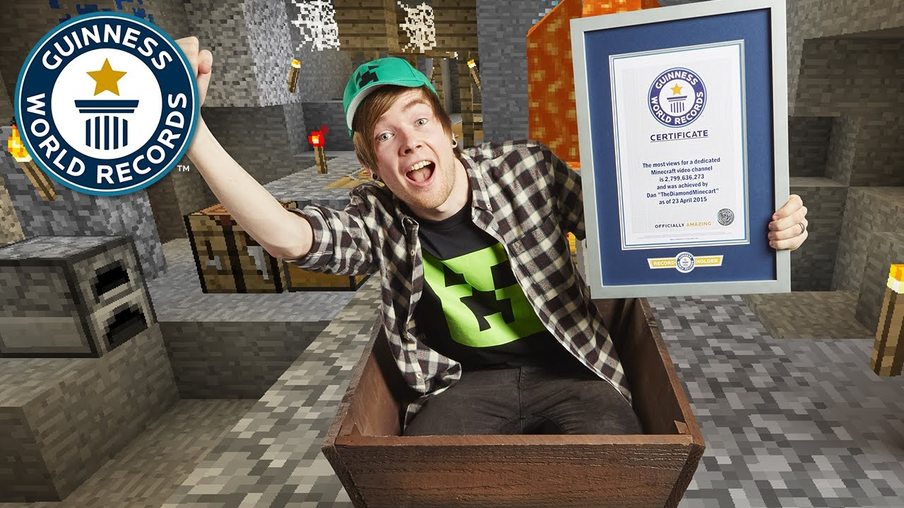 DanTDM: How I became a Minecraft world record title holder - Guinness World Records - YouTube