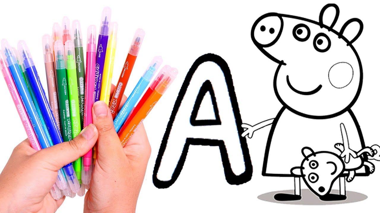 Peppa Pig Aprende A Colorear Las Letras Con Peppa Pig