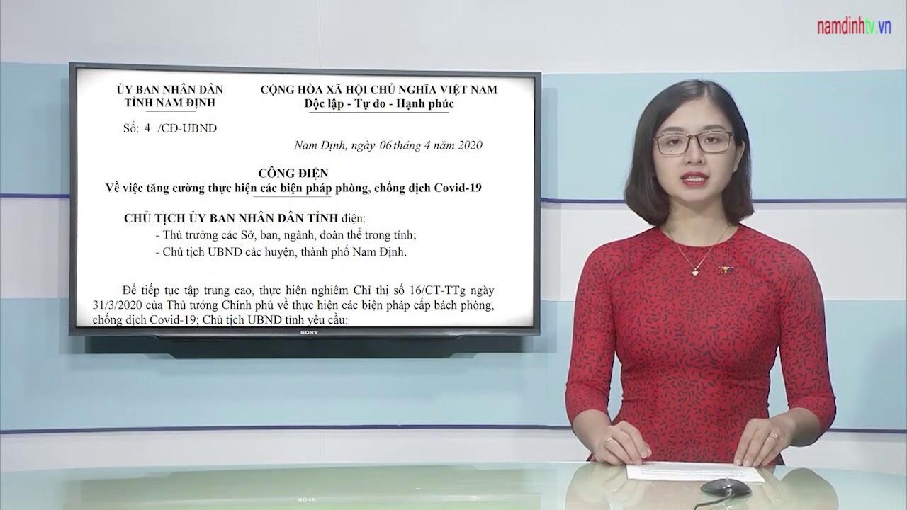 Tỉnh Nam Định tăng cường chỉ đạo thực hiện các biện pháp phòng, chống dịch COVID 19