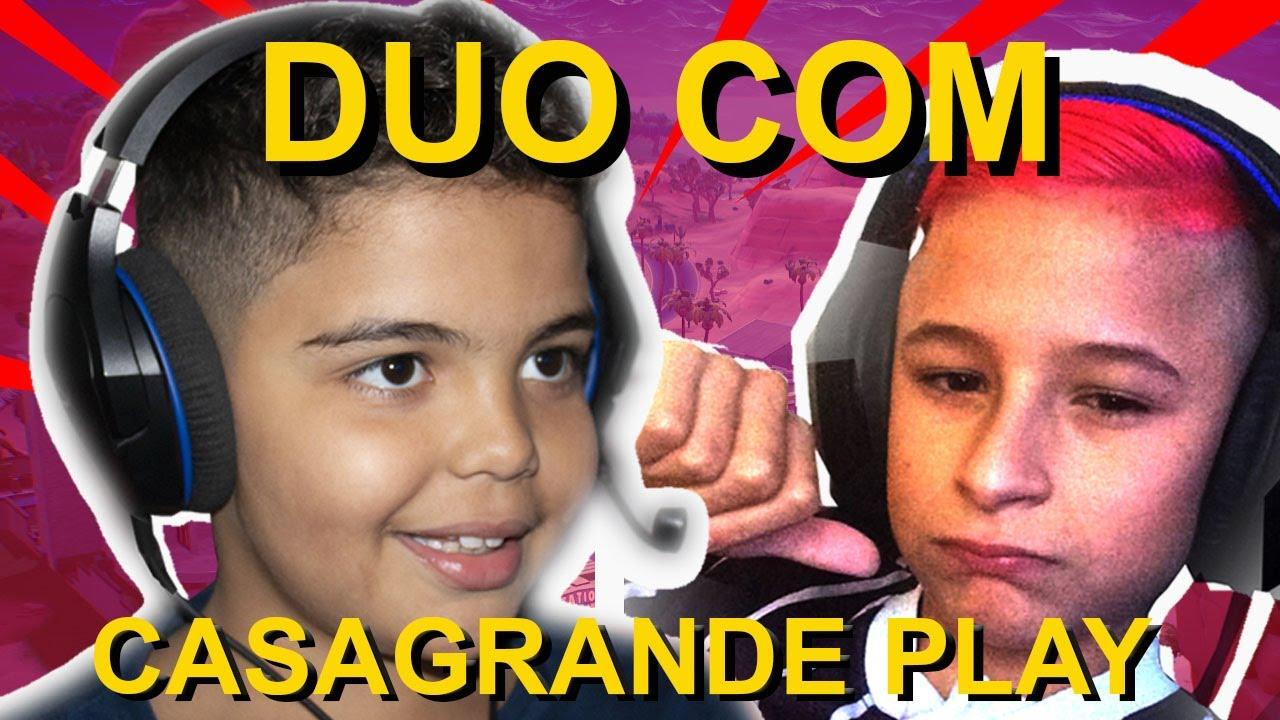 PARTIDA MALUCA DO FORTNITE CHEIA DE BOT!!! DUO COM CASAGRANDE PLAY.