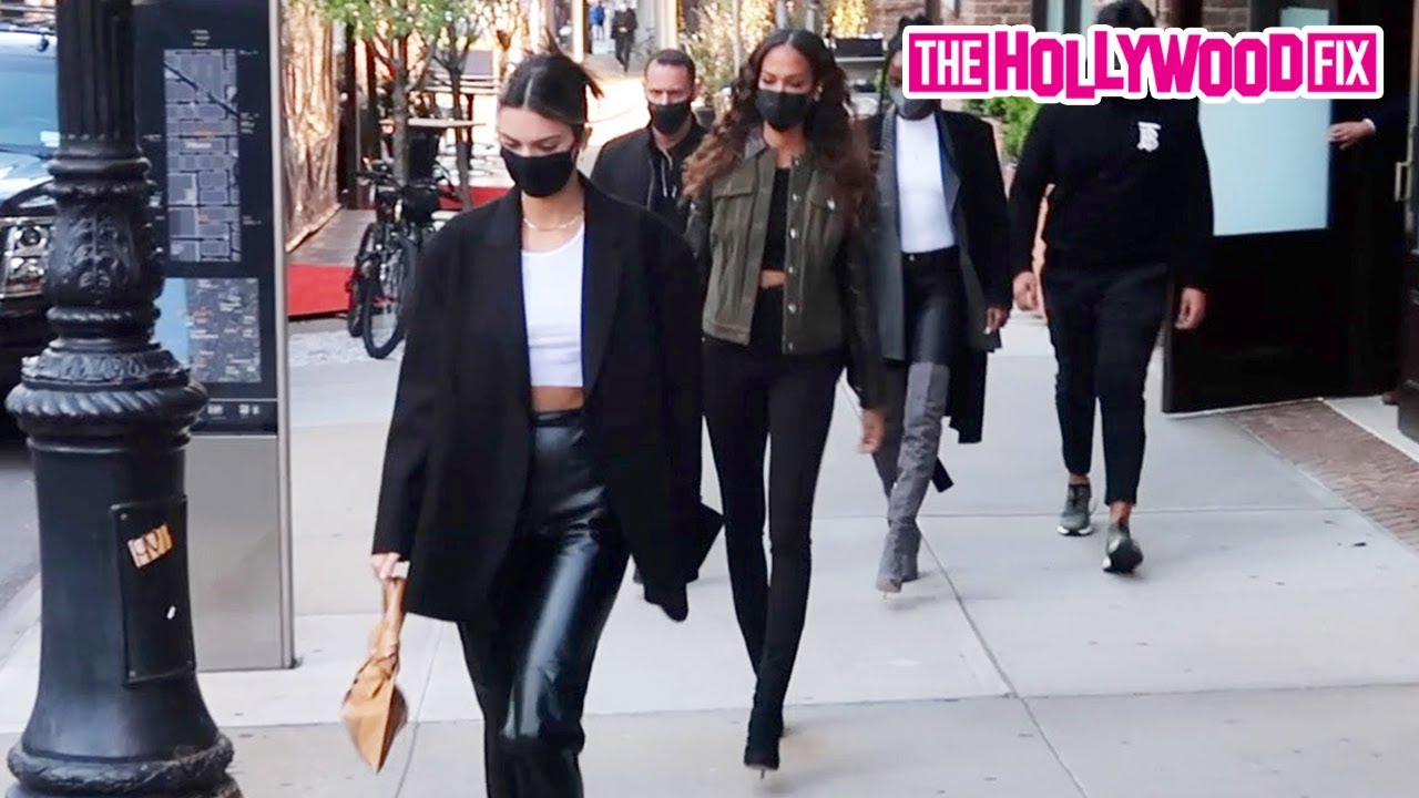 Kendall Jenner & Joan Smalls Head Out To The Knicks Game At Madison Square Garden In New York