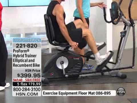 Proform Hybrid Trainer Elliptical And Rebent Bike