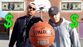 Crazy basketball trick shots challenge!! *loser pays 100*