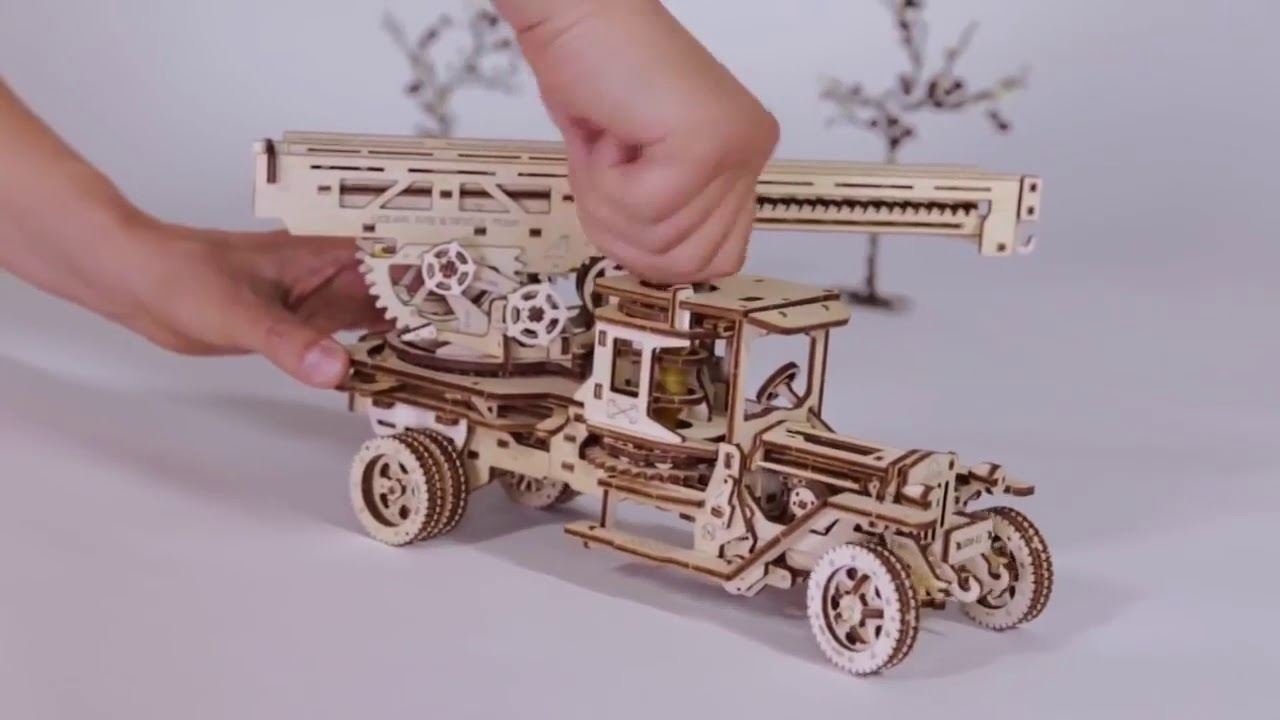 Механический конструктор 3D пазл Ugears Пожарная машина с .