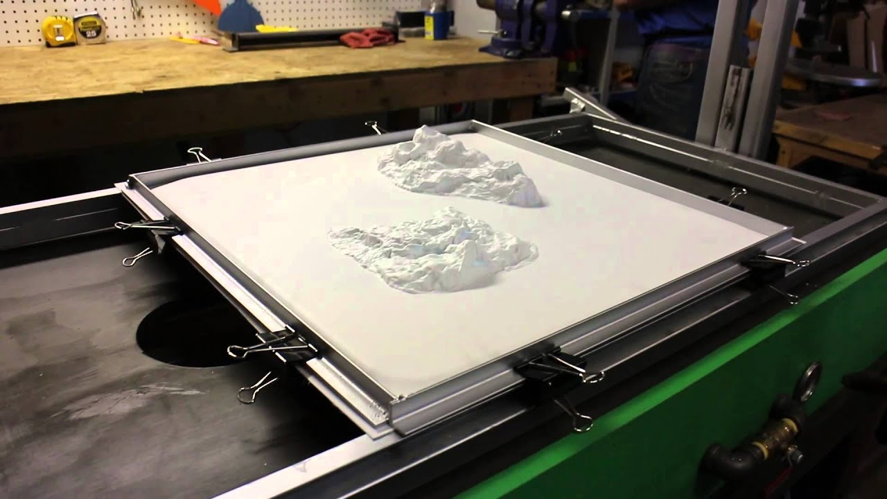 First Test of the Vacuum Forming Machine - YouTube