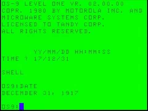 OS-9 UNIX like OS on a Radio Shack TRS-80 Color Computer
