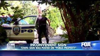 America : Second Amendment sign Thief turns out to be local cop caught on Camera (Sep 27, 2013)