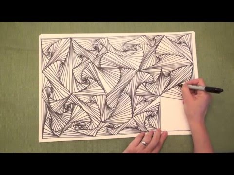 ASMR: Line Illusions (ASMR, no speaking, Doodling pattern, P