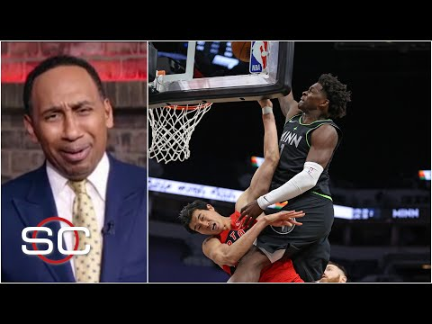 'Lord have mercy' - Stephen A. is fired up about Anthony Edwards' 'Jordan-esque' dunk | SportsCenter