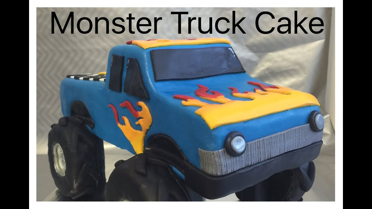 How To Make A Monster Truck Cake Youtube