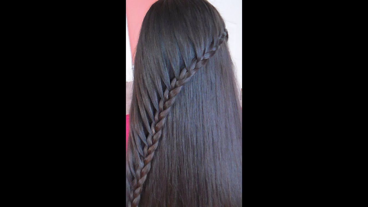 Trenza De Lado Con Cabello Suelto Sideways Braid YouTube
