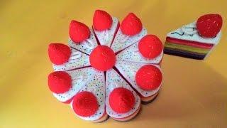 tutorial membuat strawbery dari kain flanel yang simpel