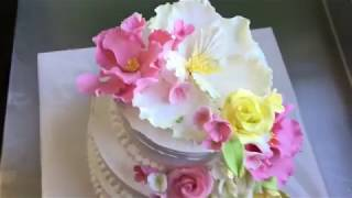 Аветорт - свадебный торт с цветами - классика