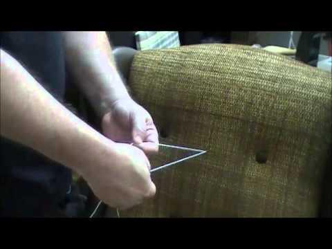 Upholstery Tufting Needle Syringe How To Youtube