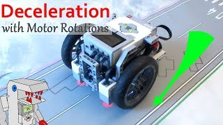 Smart Deceleration Program Controlled with Motor Rotations - EV3 Navigation with Bendik Skarpnes