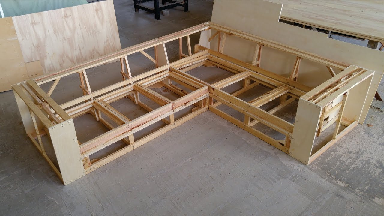 Sofa De Canto Fazendo A Estrutura Corner Sofa Youtube