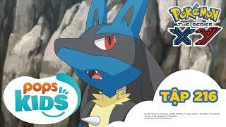 Pokémon Tập 216 - Lucario và Burshamo! Đối Đầu Trong Hang Tập Luyện - Hoạt Hình Pokémon S17 XY