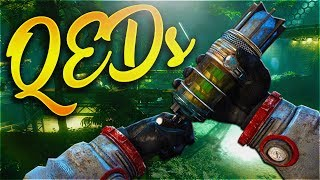 10 AMAZING QED EFFECTS ON MOON REMASTERED! Quantum Entanglement Device Uses BO3 Zombies Chronicles