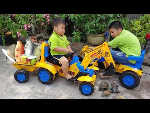 Trò Chơi Xe Máy Xúc Chở Cá ❤ ChiChi Kids TV ❤ Đồ Chơi Trẻ Em Baby Cars