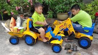 Trò Chơi Xe Cần Cẩu Chở Cá ❤ ChiChi ToysReview TV ❤ Đồ Chơi Trẻ Em Baby Cars