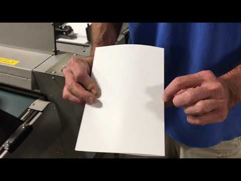 Used Morgana DigiFold Circa 2010 - Video Clip 6 [Creasing & Folding Bond Letter Size Stock]