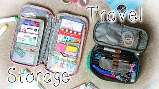 ✏ Travel Stationery Storage (Wallet & Pencil Case)