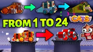 C.A.T.S INSTANT PROMOTING FROM STAGE 1 TO 24 (40 Instant Promotions) Crash Arena Turbo Stars