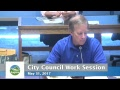 Eugene City Council Wednesday Work Session: May 31, 2017