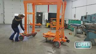Topper Industrial Cart Delivery - Walk Through Mother Cart that utilizes Multiple Daughter Carts