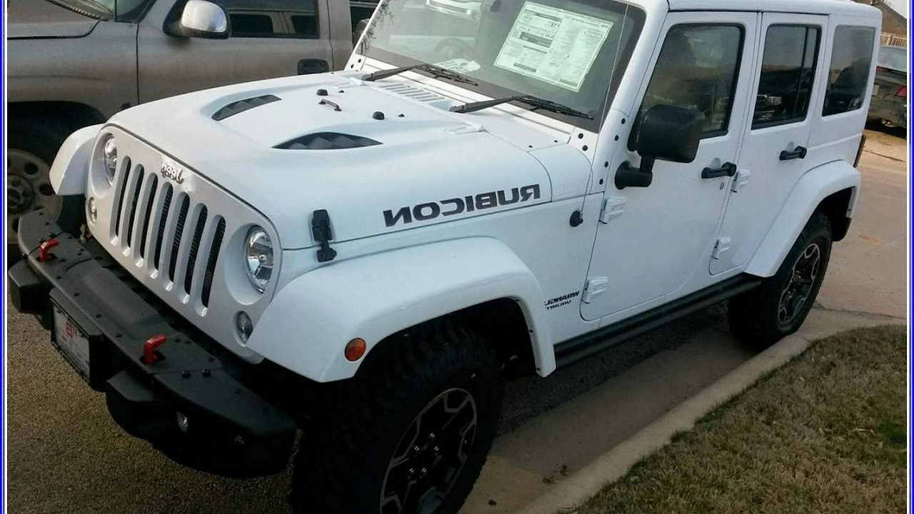 2017 White Jeep Rubicon Hard Rock Unlimited Editions