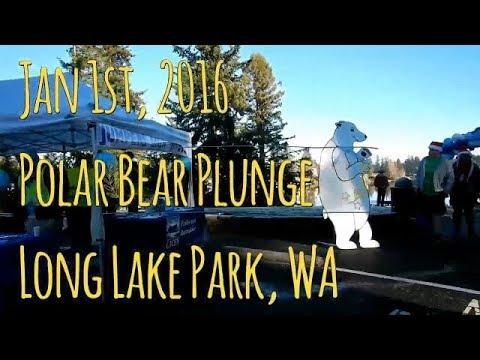 Polar Bear Plunge in Long Lake WA on New Years Day (2016)