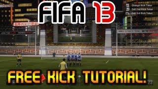 "FIFA 13 - Free Kick Tutorial - ""Score Everytime!"" Any Position - 18-40 Yards! New Tactics"